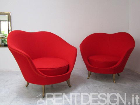 rent poltrone rosse oro